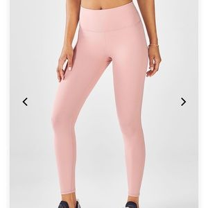Fabletics High Waisted Pink Leggings